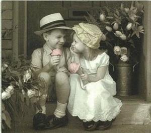 crianças+namorando